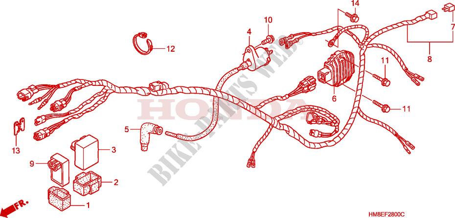 Wire Harness  Trx250tm  For Honda Fourtrax 250 Recon