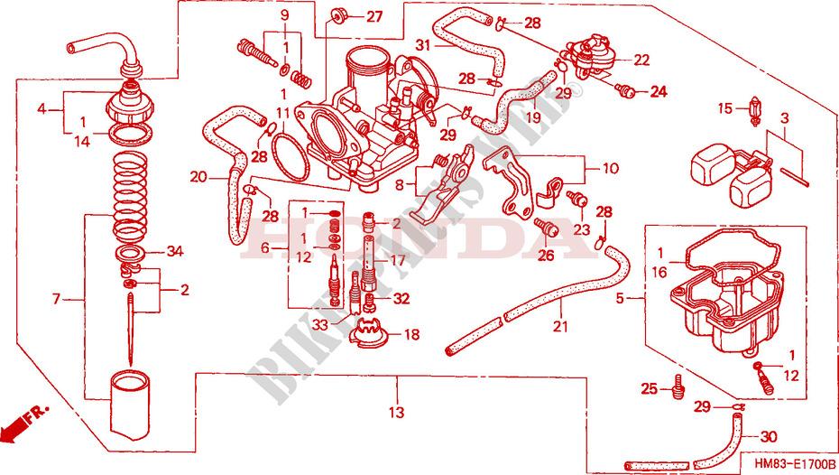 Honda Recon 250 Carb Diagram