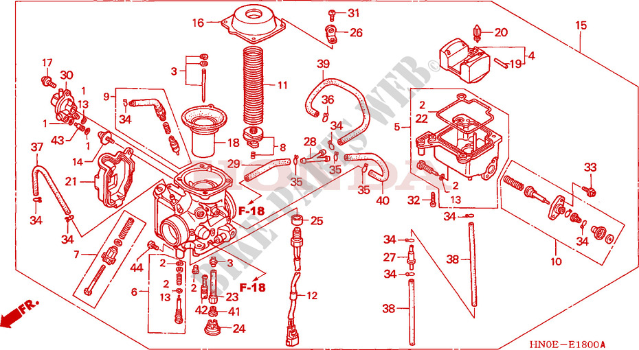 carburetor engine trx450fe2 2002 fourtrax 450 atv honda motorcycle rh bike parts honda com
