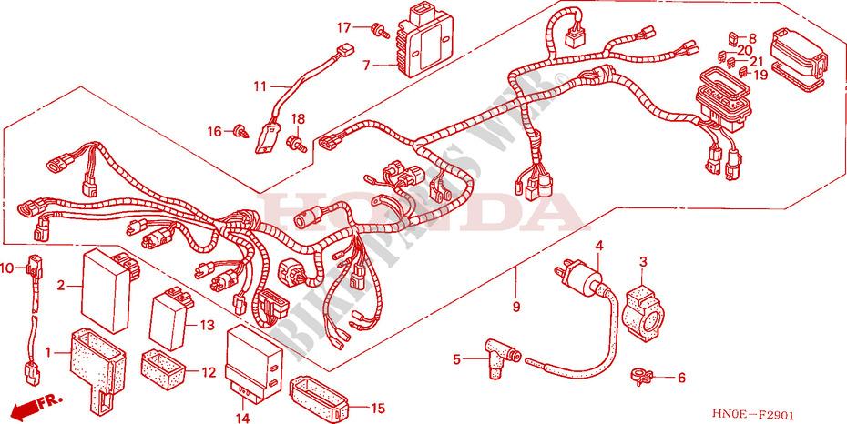 Wire harness trx fm fourtrax foreman s