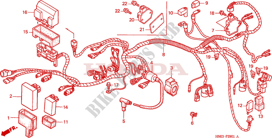 WIRE HARNESS     ES     for    Honda    FOURTRAX    450       FOREMAN    4X4