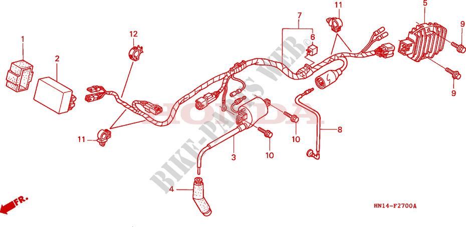 wire harness trx400exx 4 frame trx400exx 1999 fourtrax 400 atv honda rh bike parts honda com honda atc 110 wiring harness honda atc 185 wiring harness