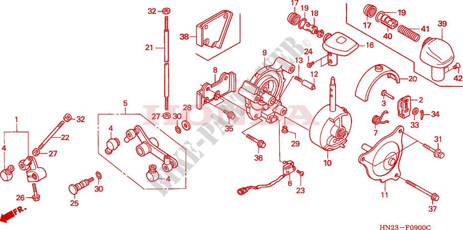 Select Lever Honda Atv Fourtrax Trx Fa F on 2001 Honda Foreman Rubicon Parts Diagram