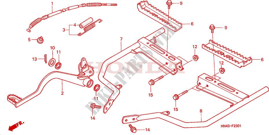 2301 honda h engine diagram step  trx350te fe  for honda fourtrax rancher 350 electric shift  honda fourtrax rancher 350