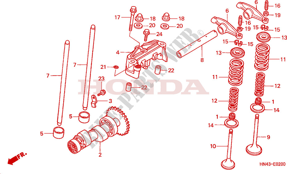 Camshaft For Honda Fourtrax Rancher 350 4x4 Electric Shift