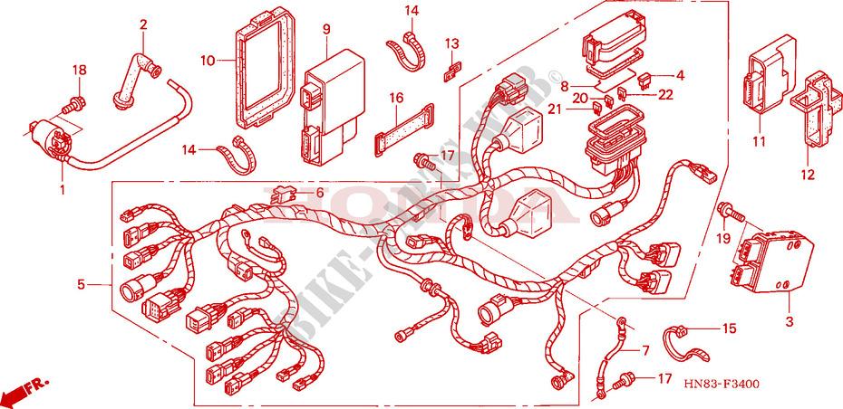 Wire Harness For Honda Fourtrax 650 Rincon 2004   Honda