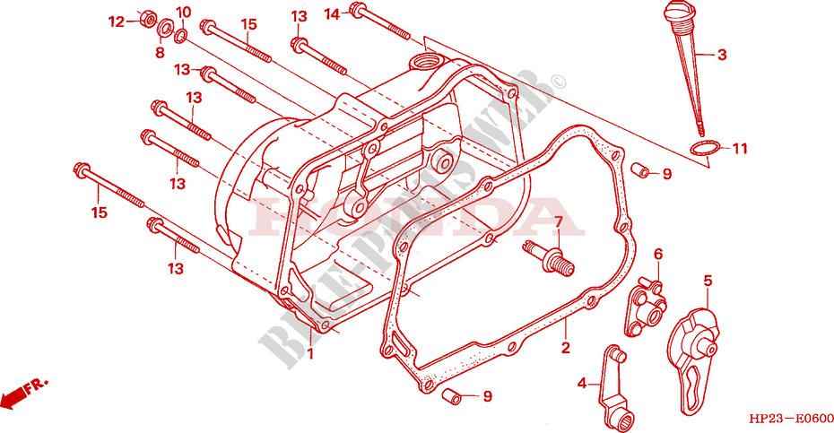 Right Crankcase Cover For Honda Sportrax Trx 90 2007