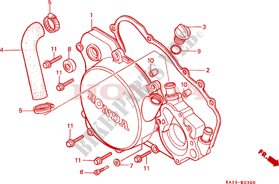 Astounding Right Crankcase Cover 1 Engine Cr125Rf 1985 Cr 125 Moto Honda Wiring Cloud Hisonuggs Outletorg