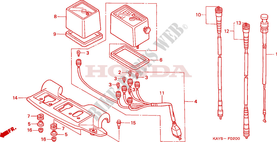 Honda 34275-S2X-003 BULB 12V 2.3W WED