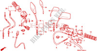 HANDLE LEVER/SWITCH/CABLE (2) Frame 250 honda-motorcycle CB 1998 F__0301