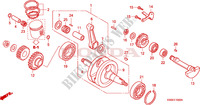 CRANKSHAFT/PISTON Engine 125 honda-motorcycle NSR 2001 E__1000