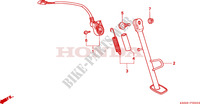 SIDE STAND Honda motorcycle microfiche diagram NSR125R1 2001 NSR 125 R