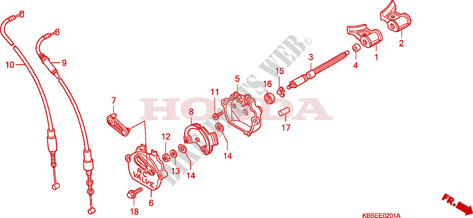 Exhaust Valve  2  For Honda Nsr 125 R 2001   Honda Motorcycles  U0026 Atvs Genuine Spare Parts Catalog