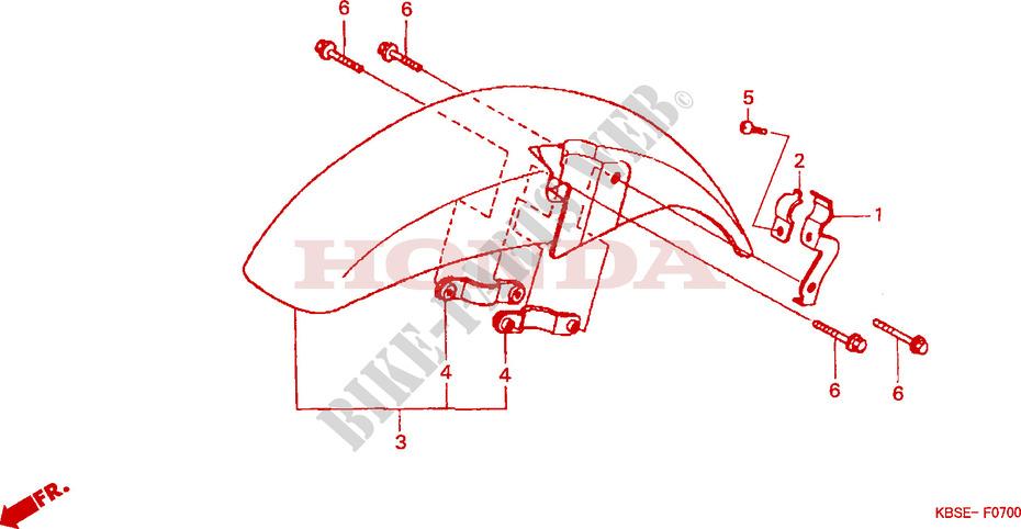 front fender frame nsr125r1 2001 nsr 125 moto honda motorcycle rh bike parts honda com Honda NSR 125 Engine Honda CRF150R