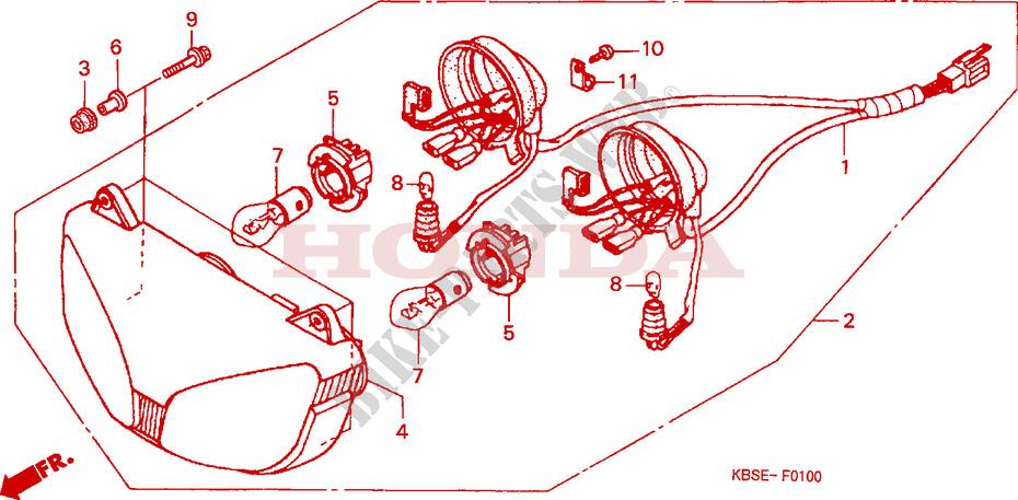 headlight frame nsr125r1 2001 nsr 125 moto honda motorcycle honda rh bike parts honda com 1974 Honda 125 Motorcycle 1974 Honda 125 Motorcycle