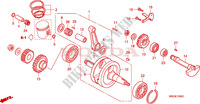 CRANKSHAFT/PISTON Engine 125 honda-motorcycle NSR 1995 E__1000