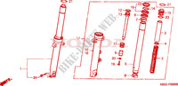 FRONT FORK Honda motorcycle microfiche diagram NSR125RV 1997 NSR 125 R