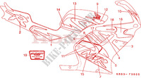 MARK (5)(RIGHT) Frame 125 honda-motorcycle NSR 1997 F__3605