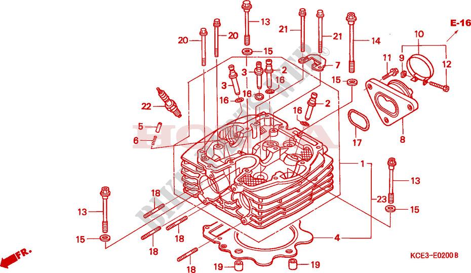 xr250 engine parts diagram trusted wiring diagrams \u2022 2002 Honda Civic Ex Engine Diagram cylinder head engine xr250rt 1996 xr 250 moto honda motorcycle rh bike parts honda com chevy engine parts diagram engine parts diagram names