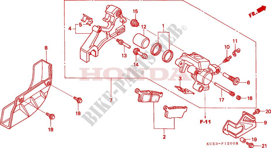 Rear Brake Pad Pin For Honda XR 250 1998