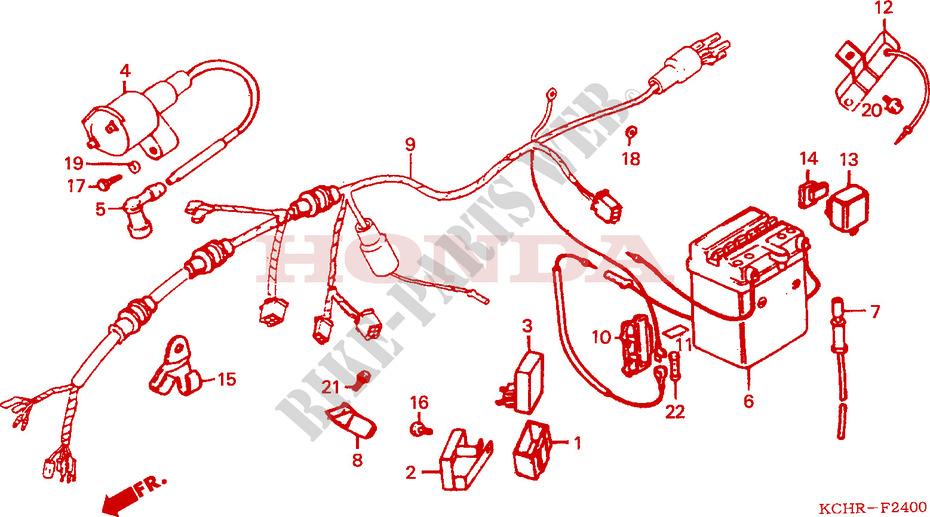 Honda 125 Motorcycle Ignition Wiring - Diagrams Catalogue