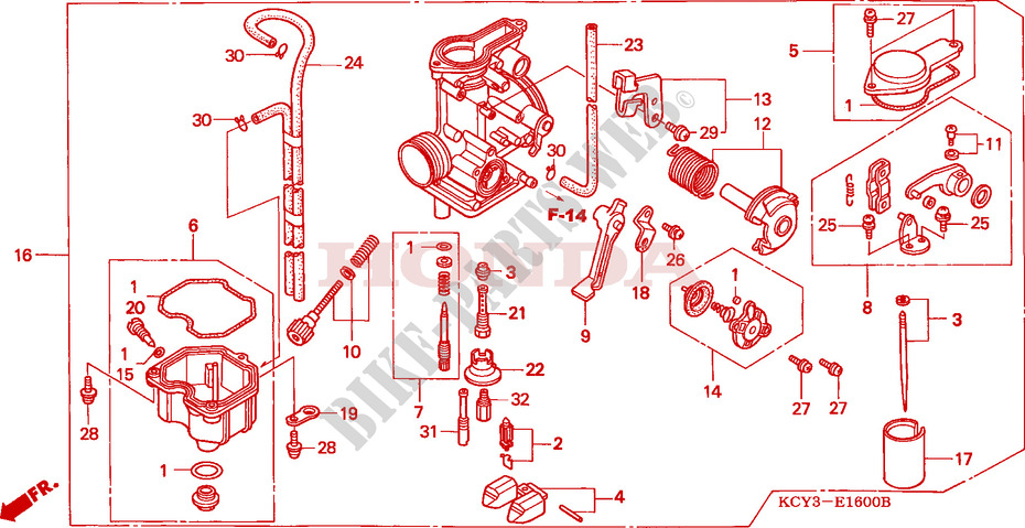 carburetor engine xr400rv 1997 xr 400 moto honda motorcycle hondafor honda 400 xr 1997
