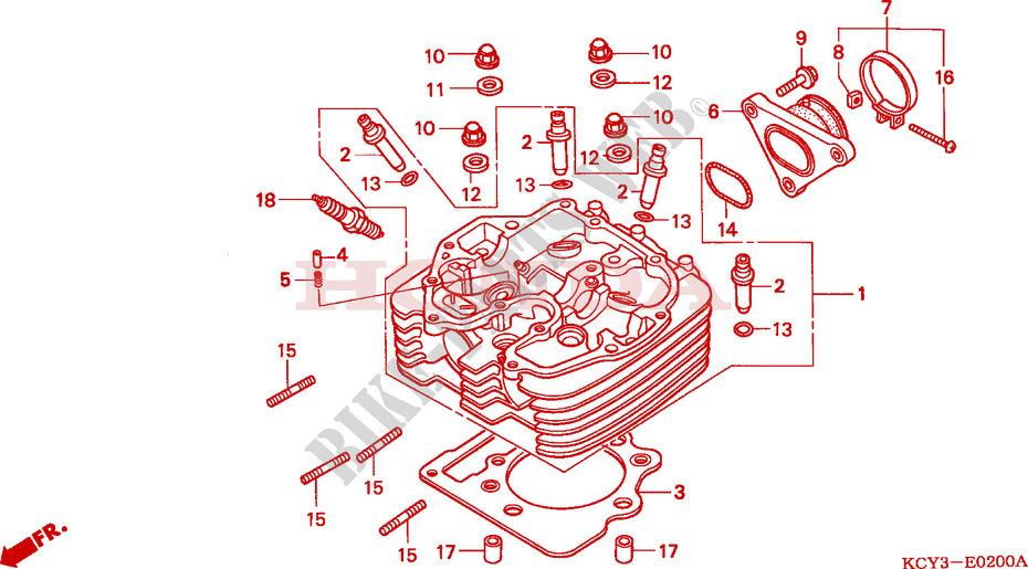 CYLINDER HEAD for Honda XR 400 2003 # HONDA Motorcycles & ATVS Genuine  Spare Parts Catalog