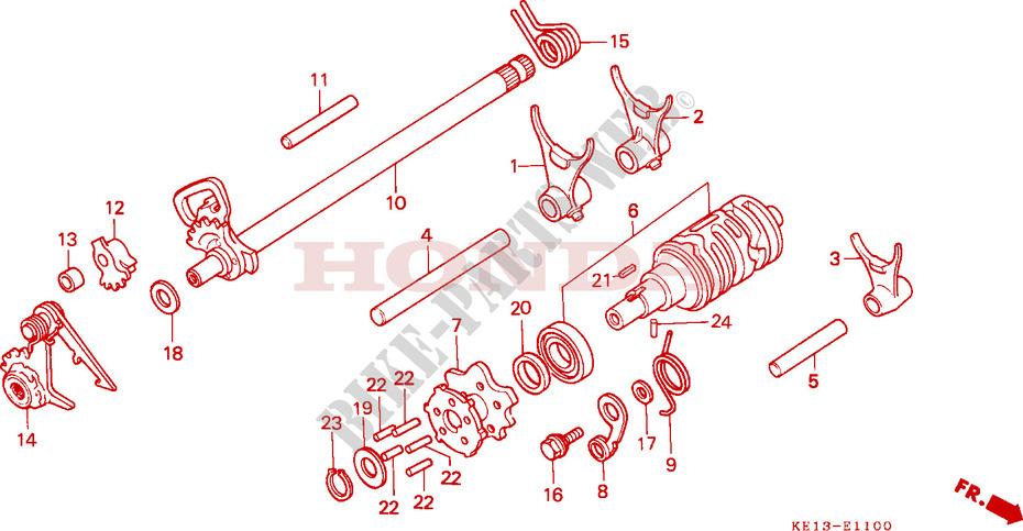 Kupplungshebel f/ür HONDA MTX 125 R 85