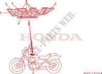 STICKERS for Honda REBEL 125 1995