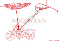 MARK for Honda REBEL 125 1998
