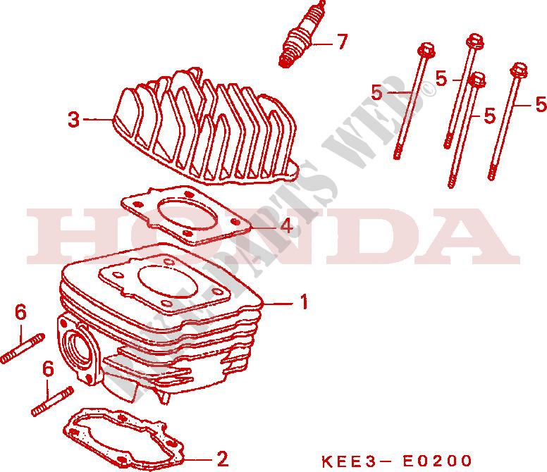 Honda Bali Explosionszeichnung