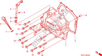 RIGHT CRANKCASE COVER Honda motorcycle microfiche diagram CLR125W 1998 CITY FLY 125 CLR