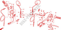 HANDLE LEVER/SWITCH/ CABLE Honda motorcycle microfiche diagram CLR125W 1998 CITY FLY 125 CLR