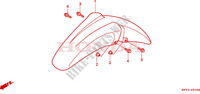 FRONT FENDER Honda motorcycle microfiche diagram CLR125W 1998 CITY FLY 125 CLR