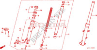 FRONT FORK Honda motorcycle microfiche diagram CLR125W 1998 CITY FLY 125 CLR
