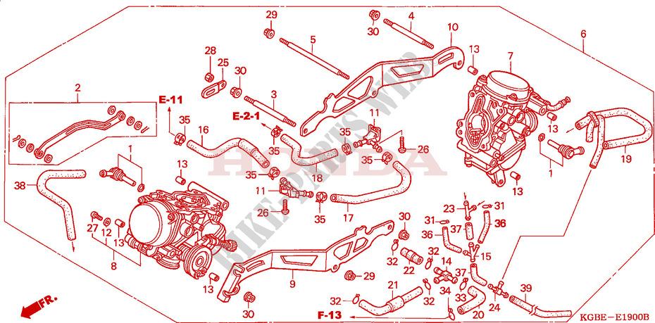 CARBURETOR (ASSY ) (VT125C1/3)(VT125C21) for Honda SHADOW 125 2001