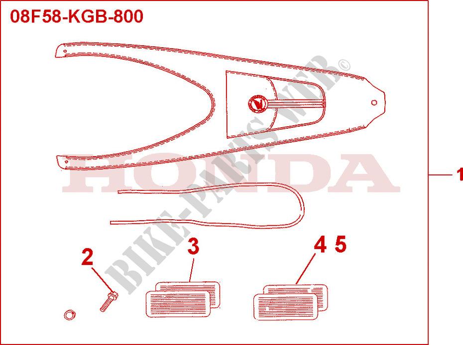 Leather Tank Belt Accessories Vt125c1 2001 Vt 125 Moto Honda