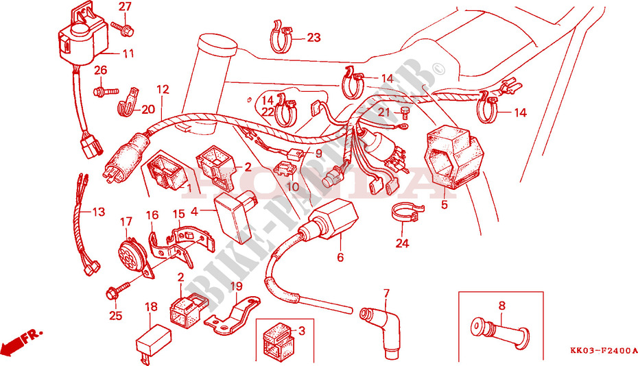 Wire Harness  C D I  Unit   Ignition Coil For Honda Xr 200 R