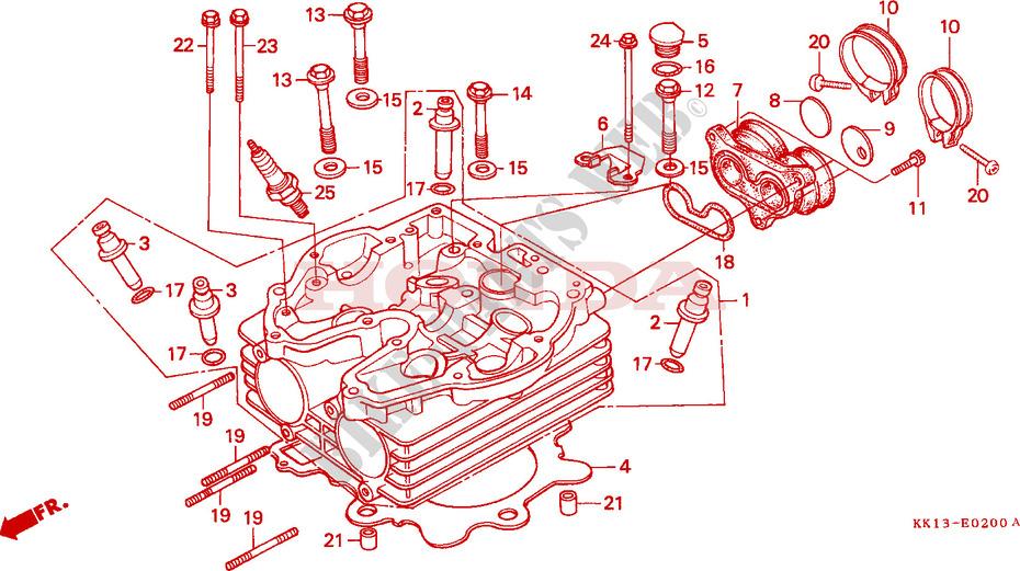 Cylinder Head  Xr250re  Ef  For Honda Xr 250 1985   Honda Motorcycles  U0026 Atvs Genuine Spare Parts