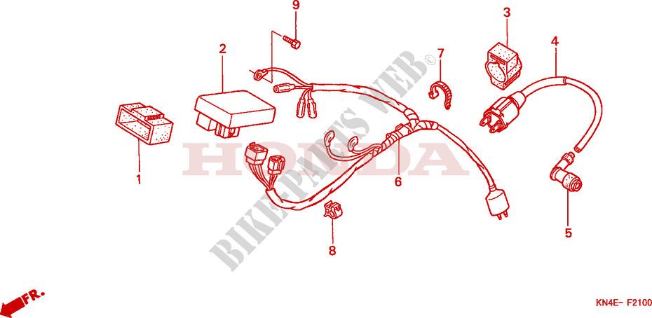 WIRE HARNESS for Honda XR 100 2002 # HONDA Motorcycles & ATVS Genuine Spare  Parts CatalogBike Parts-Honda