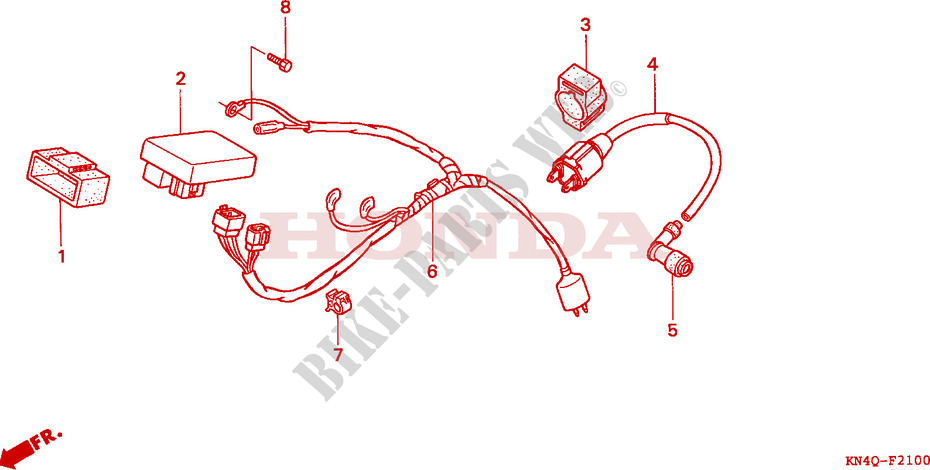 WIRE HARNESS for Honda XR 100 2000 # HONDA Motorcycles ... on