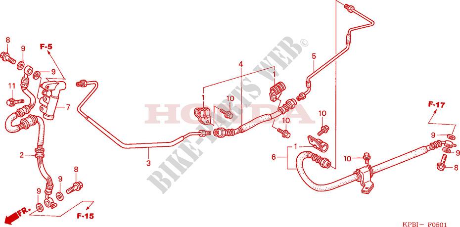 Rear Brake Pipe For Honda Jazz 250 2003   Honda