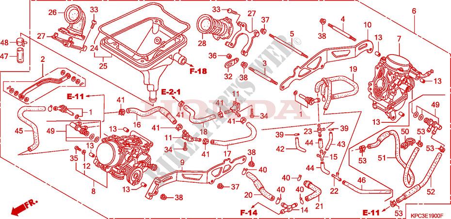 CARBURETOR ASSY Engine XL125V6 2006 VARADERO 125 MOTO Honda