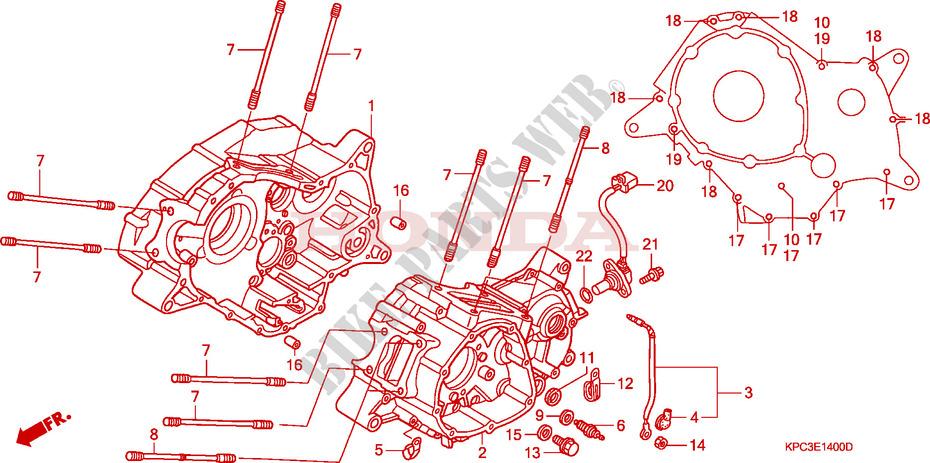 Crankcase For Honda 125 Varadero 2007   Honda Motorcycles