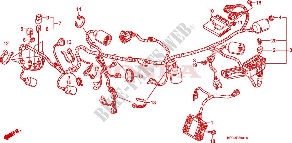 Wire Harness For Honda 125 Varadero 2007   Honda