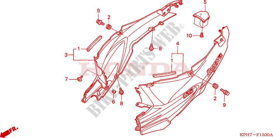BODY COVER (1) for Honda INNOVA 125 2006