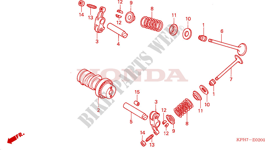 CAMSHAFT for Honda INNOVA 125 2006