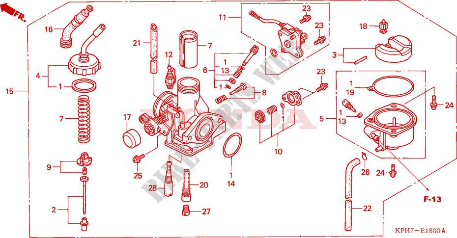Carburetor For Honda Innova 125 2003   Honda Motorcycles