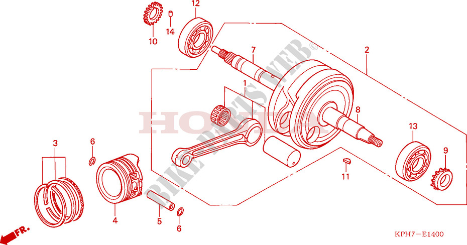 Crankshaft  Piston For Honda Innova 125 2007   Honda