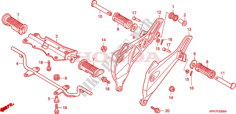 FOOTREST for Honda INNOVA 125 2007